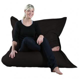 Riesensitzsack Sitzsack Sitzkissen XXL Kissen Bodenkissen Sessel Sofa schwarz