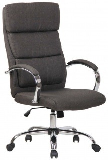 Bürostuhl dunkelgrau Stoff Chefsessel Drehstuhl Schreibtischstuhl Computerstuhl