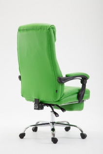 XL Chefsessel belastbar 136kg Kunstleder grün Bürostuhl Fußablage modern design - Vorschau 4