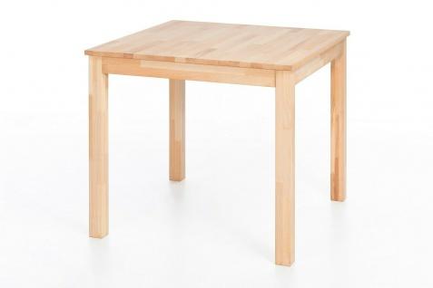 Esstisch 80x80 cm Kernbuche massivholz geölt Küchentisch Esszimmertisch Tisch