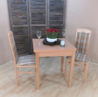 moderne Tischgruppe massiv natur beige braun Stühle Tisch preiswert hochwertig