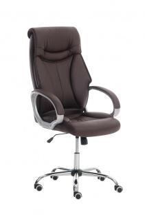XXL Chefsessel braun 150kg belastbar Bürostuhl Drehstuhl schwere Personen stabil