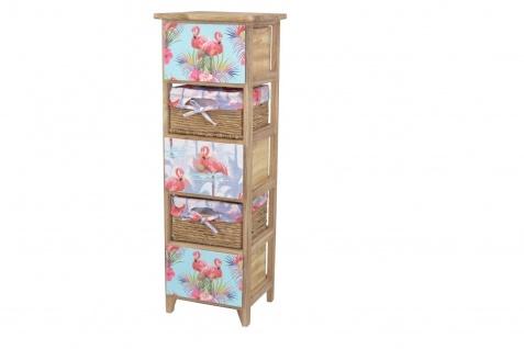 Kommode 5 Schubkästen Flamingo massivholz natur Anrichte Standregal romantisch