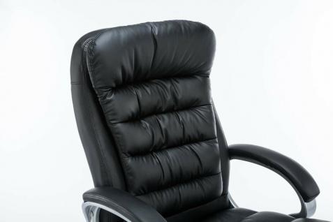 XXL Bürostuhl 235 kg belastbar Kunstleder creme Chefsessel schwere Personen - Vorschau 3