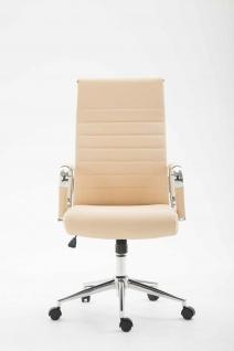 Bürostuhl 136 kg belastbar creme Kunstleder Chefsessel modern design stabil - Vorschau 2