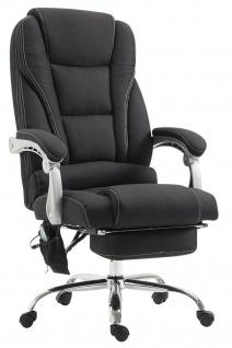 XXL Bürostuhl 150 kg belastbar schwarz Stoffbezug Chefsessel Massagefunktion