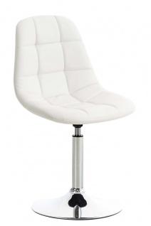 Esszimmerstuhl weiß drehbar Kunstleder Küchenstuhl design modern hochwertig