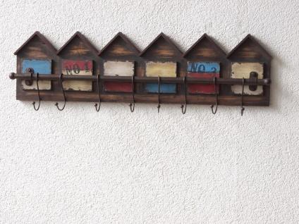 Wandgarderobe massivholz antik look Hakenleiste Haken Garderobe Garderobenhaken