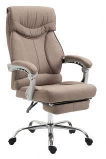 Chefsessel bis 136 kg belastbar taupe Bürostuhl Stoffbezug modern design robust