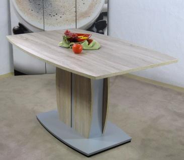 moderner Säulentisch Eiche sägerau Esstisch Esszimmertisch design günstig neu
