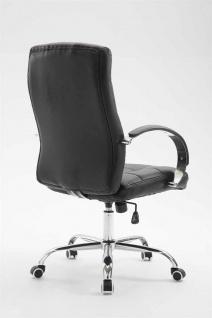 Bürostuhl 120 kg belastbar Kunstleder schwarz Chefsessel hochwertig klassisch - Vorschau 4