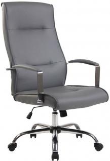 Chefsessel 136 kg belastbar Kunstleder grau Bürostuhl Drehstuhl robust stabil