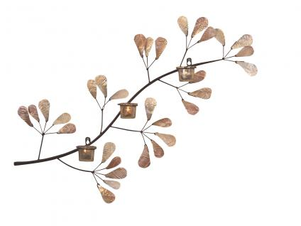 Wanddekoration Zweig Wanddeko Dekoration Kerzenhalter Teelicht Teelichthalter