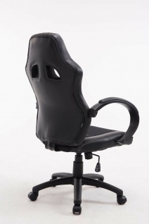 XL Bürostuhl 136 kg belastbar schwarz Kunstleder Chefsessel schwere Personen - Vorschau 4