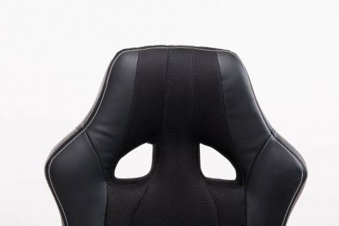 XL Bürostuhl 136 kg belastbar schwarz Kunstleder Chefsessel schwere Personen - Vorschau 5
