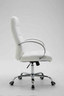 Bürostuhl bis 120 kg belastbar Kunstleder weiß Chefsessel hochwertig klassisch - Vorschau 3