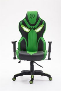 XL Chefsessel 150 kg belastbar schwarz grün Kunstleder Bürostuhl hochwertig - Vorschau 2