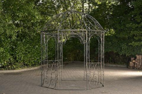 Pavillon Eisen antik bronze Rankhilfe stabil Pergola Rosenbogen Rankgitter NEU