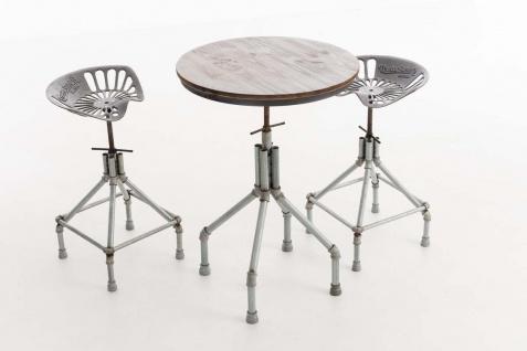 industrial Sitzgruppe Essgruppe Tischgruppe Esstisch Hocker Stühle Industrie