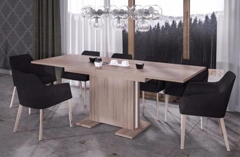 design Säulentisch 130-210 cm Wildeiche Auszug Esstisch modern günstig hochwerig