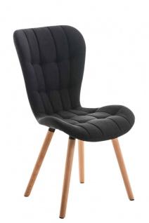 Esszimmerstuhl natur schwarz Stoffbezug Holz modern design stylisch Küchenstuhl