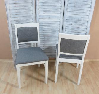 2 x Stühle massiv weiß graphit Esszimmerstühle Küche modern design günstig neu