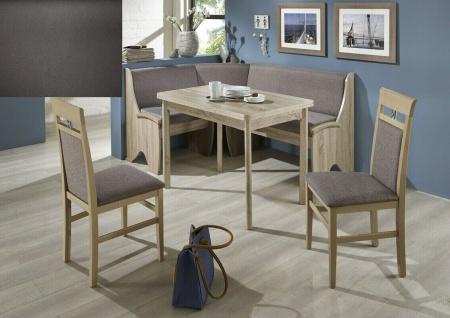 Eckbankgruppe 167x127 Eiche Sonoma/ Kunstleder grau Essecke Sitzecke Tischgruppe