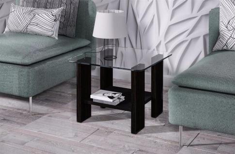 design Glastisch Wenge kleiner Beistelltisch edler Couchtisch modern günstig