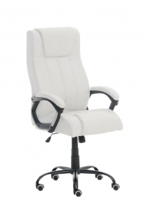 Bürostuhl weiß 150 kg belastbar Chefsessel Kunstleder Drehstuhl stabil robust