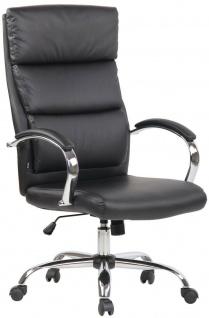 Bürostuhl 136 kg belastbar schwarz Kunstleder Chefsessel hohe Rückenlehne NEU
