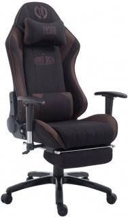 Bürostuhl 150 kg belastbar schwarz braun Stoff Chefsessel Fußablage Zocker Gamer