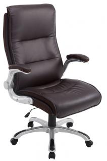 XXL Bürostuhl bis 150 kg braun Kunstleder Chefsessel modern hochwertig günstig