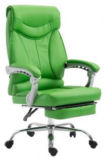 Chefsessel bis 136 kg belastbar grün Bürostuhl Kunstleder modern design robust