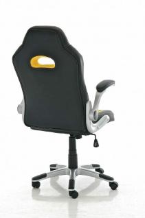 XL Bürostuhl 136 kg belastbar gelb Kunstleder Netzbezug Chefsessel günstig neu - Vorschau 3