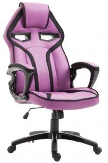 Bürostuhl 115kg belastbar lila Kunstleder Chefsessel sportlich modern design