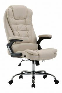 XL Bürostuhl 150kg belastbar creme Stoffbezug Chefsessel Drehstuhl Computerstuhl