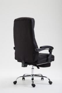 Chefsessel belastbar 136 kg Stoffbezug schwarz Bürostuhl klassisch Fußablage - Vorschau 4