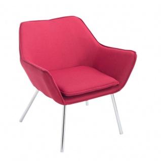 Lounger rot Stoffbezug Loungesessel Clubsessel Loungemöbel modern design bequem