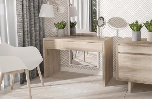 moderner Schreibtisch Sonoma Eiche edler Computertisch Schreibkommode design