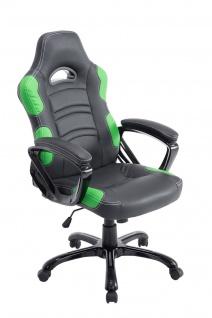 Bürostuhl 150 kg belastbar schwarz grün sportlich Chefsessel schwere Personen