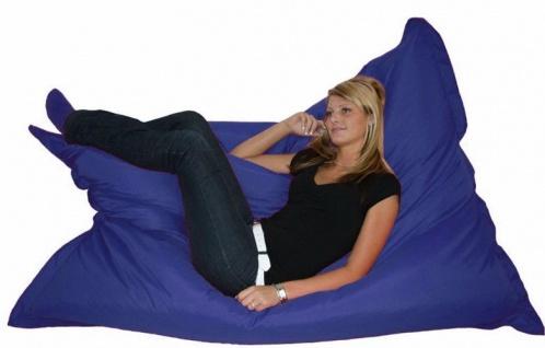 Riesensitzsack Sitzsack Sitzkissen XXL Kissen Bodenkissen Sessel Sofa blau