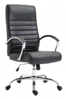 XL Bürostuhl bis 136 kg belastbar Kunstleder schwarz Chefsessel hochwertig neu