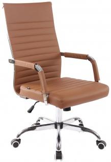 Klassischer Bürostuhl hellbraun 120 kg belastbar Chefsessel Drehstuhl stabil