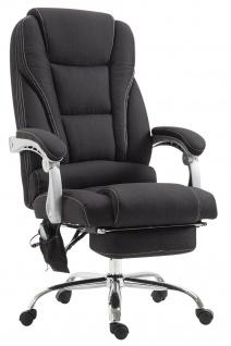 XXL Bürostuhl 150 kg belastbar schwarz Stoffbezug Chefsessel Massagefunktion - Vorschau 1