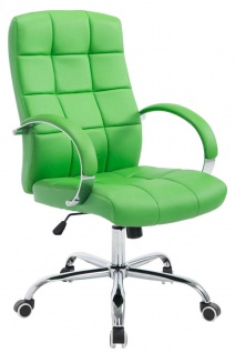 Bürostuhl 120 kg belastbar Kunstleder grün Chefsessel hochwertig stabil neu