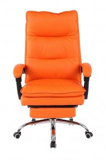 XL Bürostuhl 136 belastbar orange Kunstleder Chefsessel Computerstuhl Drehstuhl - Vorschau 2
