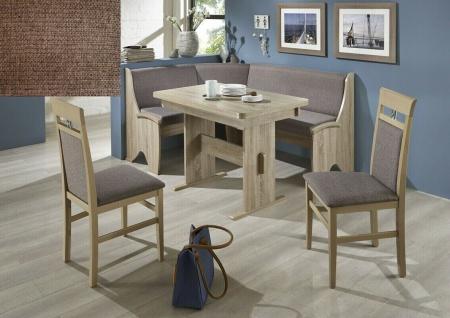Eckbankgruppe Eiche Sonoma/ Stoff braun Essecke Sitzecke Tischgruppe Auszugtisch