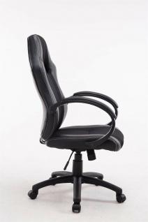 XL Bürostuhl 136 kg belastbar schwarz Kunstleder Chefsessel schwere Personen - Vorschau 3