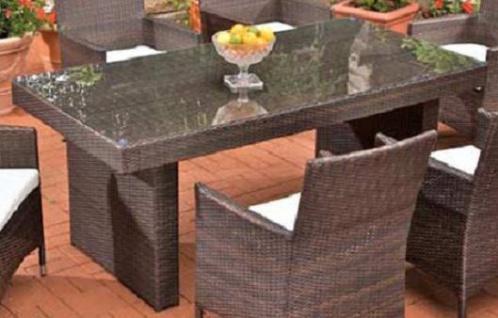 Tisch Braun 180 Cm Gartentisch Garten Polyrattan Terrasse