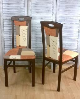 2er-Set Esszimmerstuhl massivholz nußbaum Stuhlset Stühle Polsterstuhl modern